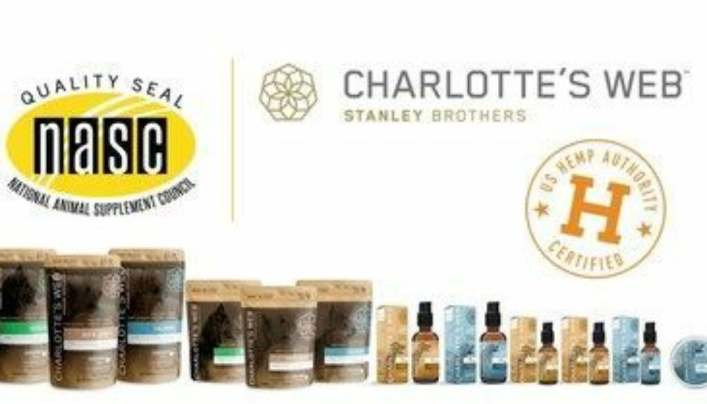 Charlotte's Web Pet Products Approved for NASC Quality and U.S. Hemp Authority Seals
