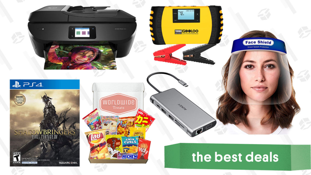 Monday's Best Deals: HP Back-to-School Sale, Aukey 12-in-1 USB-C Hub, Final Fantasy XIV: Shadowbringers, Gooloo 1500A Jump Starter, Taste of Asia Snack Mix, Reusable Face Shields, and More